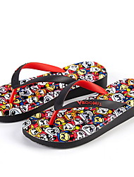 cheap -Men's PVC Spring & Summer Casual Slippers & Flip-Flops Breathable Black and White / Black / Red