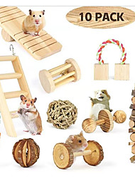 Недорогие -10 шт. Игрушки жевать для крыс хомяка кролики деревянные игрушки хомяка для мелких животных уход за зубами моляр