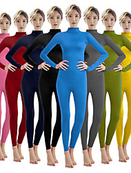 cheap -Zentai Suits Cosplay Costume Catsuit Adults' Spandex Lycra Cosplay Costumes Sex Men's Women's Solid Colored Halloween Carnival Masquerade / Skin Suit / Leotard / Onesie / Leotard / Onesie