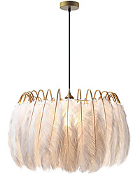 cheap -Feather Droplight Is Contemporary Contracted Sitting Room Sweet And Romantic Individual Character Children Room Bedroom Study Droplight