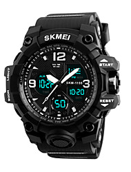 cheap -Men's Digital Watch Quartz Sporty Stylish Outdoor Water Resistant / Waterproof Analog - Digital Black Blue Red / Two Years / Stainless Steel / Calendar / date / day / Chronograph / Dual Time Zones