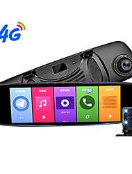 Недорогие -4g Android рекордер путешествия HD ночного видения зеркало заднего вида с двумя объективами радар-измеритель скорости потока Adas Assist 170 градусов широкоугольный cmos 8-дюймовый видеорегистратор