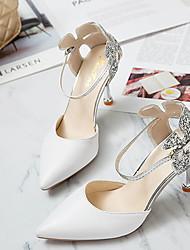 cheap -Women's Heels Stiletto Heel Pointed Toe PU Spring & Summer White