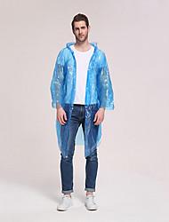 cheap -Men's Women's Hiking Raincoat Outdoor Solid Color Waterproof Windproof Raincoat Nylon Pink