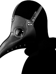 cheap -Plague Doctor Mask Men's Polyester White Black 1pc / pack Adults Daily Basic