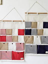 Недорогие -13 карманов в полоску для хранения швов висит сумка украшения 1шт