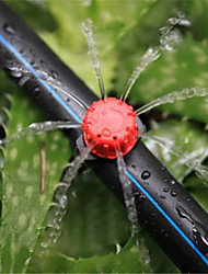 cheap -Eight-hole drip head red adjustable flow drip head horticultural drip irrigation sprinkler fruit tree drip head 100 sets
