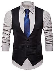 cheap -Men's Vest Stand Cotton Black / White / Gray