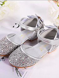 cheap -Girls' Comfort / Flower Girl Shoes PU Sandals Dress Shoes Little Kids(4-7ys) / Big Kids(7years +) Rhinestone / Sparkling Glitter / Sequin Pink / Blue / Silver Fall / Winter / Party & Evening / Rubber
