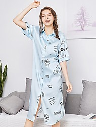 cheap -Women's Chemises & Gowns Nightwear White Light Blue M L XL