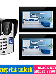 cheap -Wired 7 Inch Hands-free 800*480 Pixel One To Two Video Doorphone