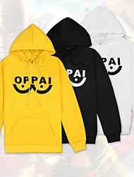 cheap -Inspired by ONE PUNCH-MAN Cosplay Costume Hoodie Pure Cotton Letter Hoodie For Men's / Women's