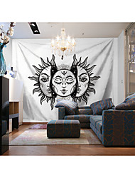 cheap -Custom Tapestry painting white background sun god suitable for bedroom living room Party activities TV background wall decoration Wall Tapestries Decoration