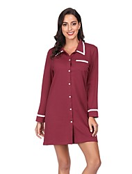 cheap -Women's Chemises & Gowns Nightwear Wine Royal Blue S M L