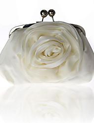 Недорогие -Жен. Ленты / Ленты Шелк Вечерняя сумочка Свадебные сумки Сплошной цвет Белый / Черный / Миндальный / Наступила зима