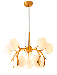 cheap -ZHISHU 10-Light 73 cm Dimmable Chandelier Copper Glass Sputnik / Globe Brass Artistic / Nordic Style 110-120V / 220-240V