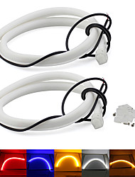 cheap -60CM Car Light guide 12V DC LED Flexible Tube Daytime Running Light Turn Light Yellow White Red Blue