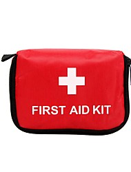 cheap -Oxford Cloth Zipper Emergency Survival Bag Solid Color Daily Red