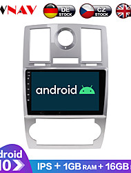cheap -ZWNAV 9inch 1din 1GB 16GB Android 10.0 2.5D IPS Car Radio Car GPS Navigation Stereo Navi in Dash Car MP5 Player Car Multimedia Player Video Player with Bluetooth WiFi BT for Chrysler 300C 2000-2014