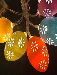 cheap -3m String Lights 20 LEDs 1pc Daylight Easter Day Easter Egg Batteries Powered