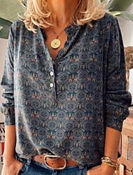 cheap -Women's Daily Blouse - Geometric Blue