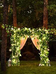 cheap -2M 30Led Artificial Plants Led String Light Creeper Green Leaf Ivy Vine For Home Wedding Decor Lamp DIY