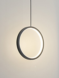 cheap -30 cm LED15W Mini Pendant Light Aluminum Circle / Mini Painted Finishes Black White Frame for Living Bed Dinning Room Modern 110-120V / 220-240V