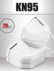 cheap -20 pcs KN95 Mask Face Mask Respirator Protection Melt Blown Fabric Filter High Quality Men's Women's White / Filtration Efficiency (PFE) of >95%