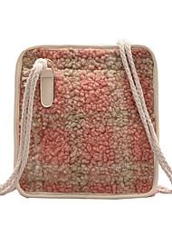 cheap -Women's Polyester Crossbody Bag Color Block Yellow / Blushing Pink / Orange