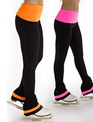 cheap -Over The Boot Figure Skating Tights Women's Girls' Ice Skating Pants / Trousers Orange Pink Spandex High Elasticity Training Skating Wear Patchwork Ice Skating Figure Skating / Kids