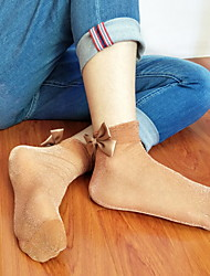 Недорогие -1 пара Жен. Носки Standard Креатив Формирование ног Простой стиль Полиэстер EU36-EU46