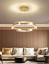cheap -80 cm Circle Pendant Light Gold Luxury Chandelier Aluminum Anodized LED Modern