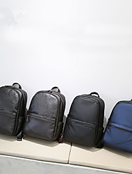 cheap -Large Capacity PU Zipper School Bag Solid Color Fitness Black / Brown / Black Grey