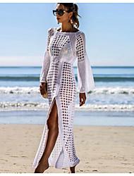 cheap -Women's Maxi White Black Dress Sheath Solid Color M L