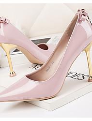 cheap -Women's Heels Stiletto Heel Pointed Toe PU Spring & Summer Black / White / Pink