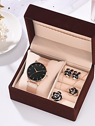 cheap -Women's Steel Band Watches New Arrival Minimalist Rose Gold Stainless Steel Chinese Quartz Black White Chronograph New Design Casual Watch 1 set Analog One Year Battery Life