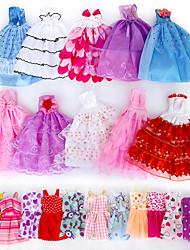 Недорогие -Аксессуары для кукол Одежда для кукол Платье куклы Простой Творчество Kawaii Одежда Ткань 5 pcs Детские Все Игрушки Подарок