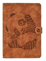 cheap -Case For Apple iPad Air / iPad 4/3/2 / iPad Mini 1.2.3.4.5 Card Holder / with Stand / Flip Full Body Cases Animal / Cartoon / Panda PU Leather for ipad 2017 2018 ipad pro 10.5 iPad 2018 ipad 10.2 2019
