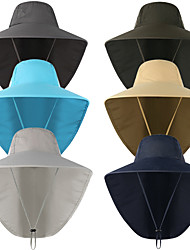 cheap -Adults Wide Brim Sun Hat Bucket Hat Spring, Fall, Winter, Summer Outdoor Fishing Nylon UV Sun Protection Protective Safety Personal Protection / Women's / Men's / Solid Colored
