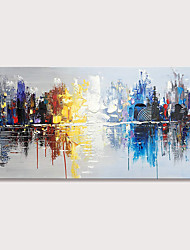 cheap -Mintura Hand Painted Knife Landscape Oil Paintings on Canvas Modern Abstract Wall Picture Art Posters For Home Decoration Ready To Hang With Stretched Frame