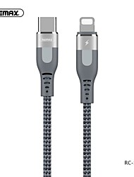cheap -Lightning / Type-C Cable 3 A 1.0m(3Ft) Braided / High Speed / Gold Plated Aluminum / TPE USB Cable Adapter For iPad / Huawei / iPhone