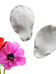 Недорогие -2 шт. Моделирования сахарный цветок анемона двухсторонняя текстура штамповка формы фондант торт силиконовые формы выпечки инструмент