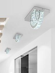 cheap -Modern Crystal Ceiling Light 2 Led Integrated Bulbs Stainless Stell Flush Mount for Bed Living Room Kitchen Asile Lighting