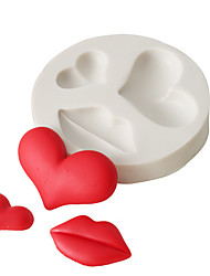 cheap -Valentine's Day DIY Red Lips Lips Love Chocolate Mold Fondant Cake Silicone Mold Baking Utensil