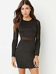 cheap -Women's Bodycon Dress - Solid Color Black XS S M L