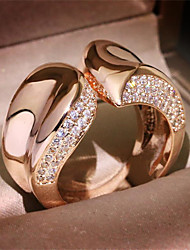 cheap -Men's Ring 1pc Gold Gold Plated Imitation Diamond Round Stylish Gift Festival Jewelry Classic Flower