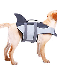 cheap -Dog Vest Life Vest Solid Colored Animal Simple Style Animal Dog Clothes Puppy Clothes Dog Outfits Swimming Yellow Green Rose Costume for Girl and Boy Dog Terylene Waterproof Material S M L