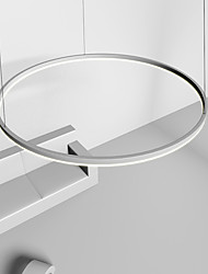 cheap -80CM LED Pendant Light Circle Nordic Modern Simple Ceiling Light for Dinning Room Bedroom Entry Aluminum Frame Acrylic Black White Gold Coffee
