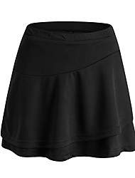cheap -Women's Tennis Golf Skirt Quick Dry Breathable Soft Sports Outdoor Autumn / Fall Spring Summer Solid Color White Black / Stretchy