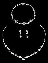 cheap -Women's Jewelry Set Bridal Jewelry Sets Elegant European Fashion Imitation Diamond Earrings Jewelry Silver For Wedding Anniversary Party Evening Gift Engagement 1 set
